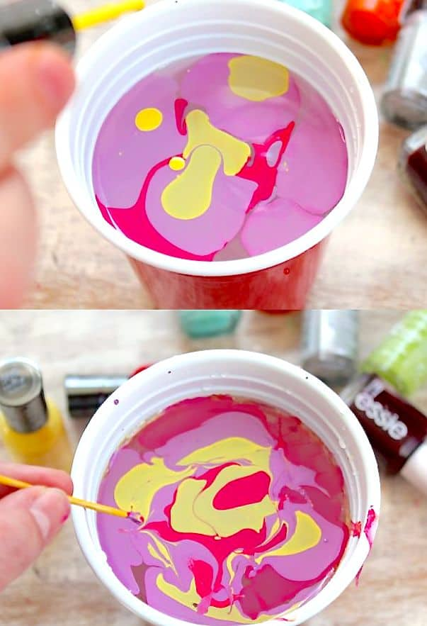 How to water marble Easter Eggs