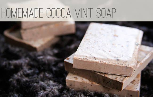Homemade Cocoa Mint Soap
