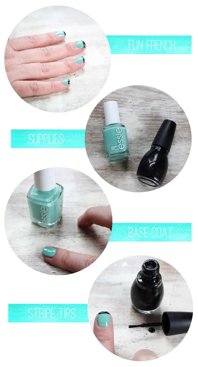 Fun French Manicure | Spring Nail Ideas
