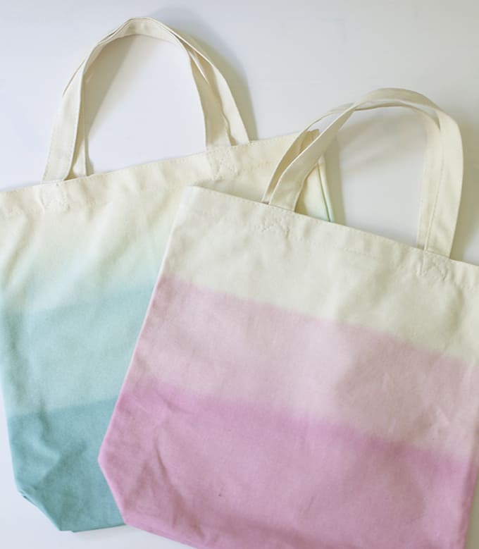 Dip Dyed Canvas Totes from Glamour & Grace