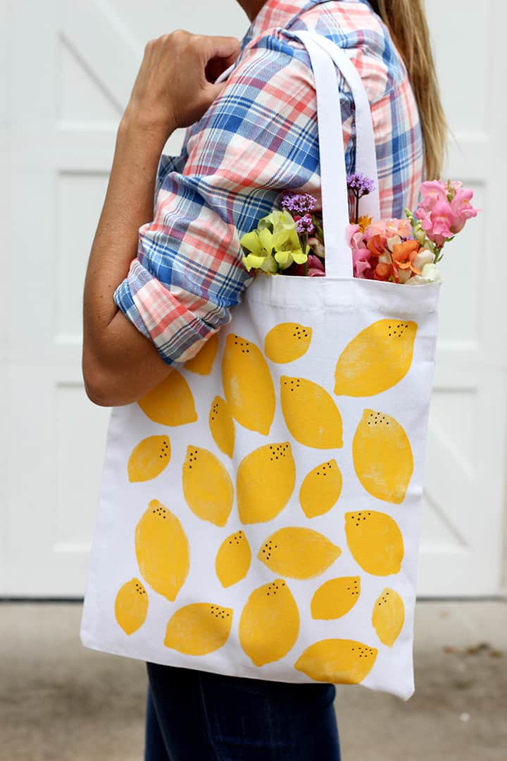 Stamped Lemon Bag from Alice + Lois