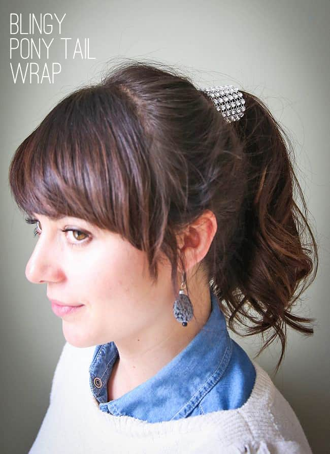 DIY Ponytail Wrap