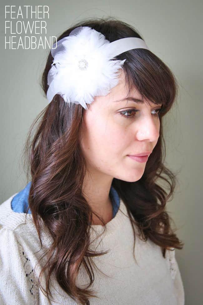 DIY Feather Flower Headband