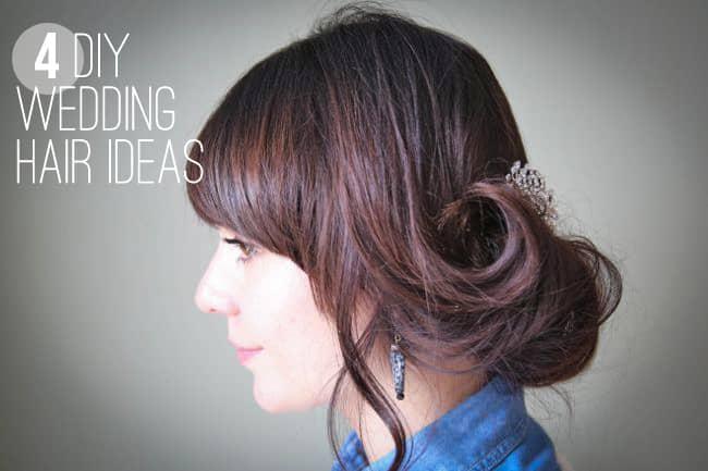 4 DIY Wedding Hair Ideas