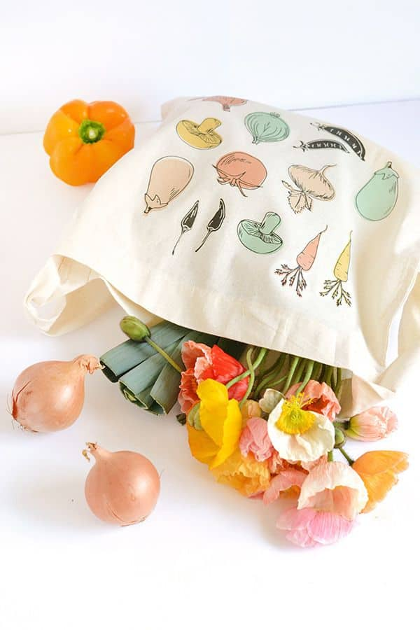 Vegetable Print Tote from Curbly
