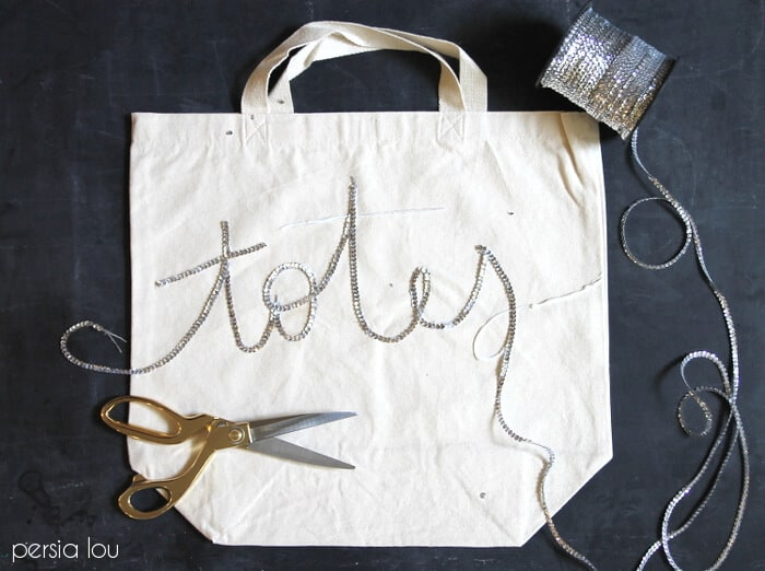 DIY Sequined Tote Bag from Persia Lou