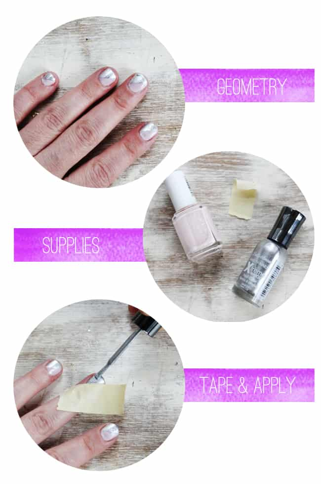 Diagonal Manicure | Spring Nail Ideas