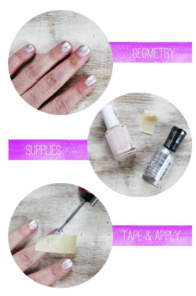 Diagonal Manicure | Spring Nail Ideas