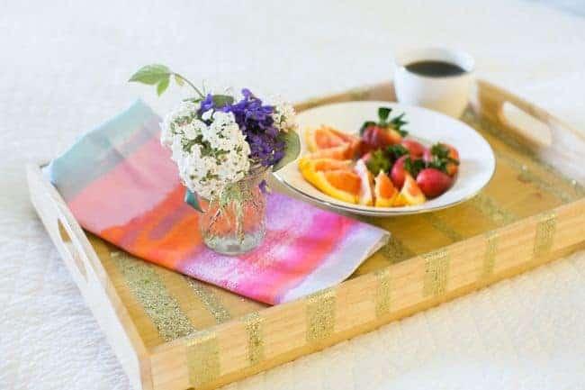 Glitter Breakfast Tray