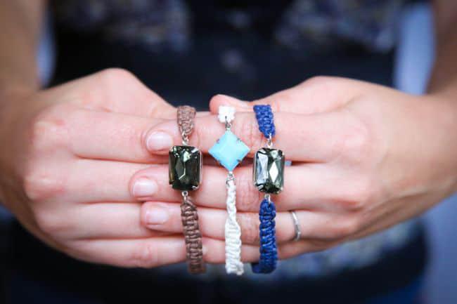 DIY Jewel Macrame Bracelet - Hello Glow
