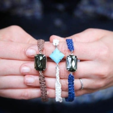 DIY Jewel Macrame Bracelet
