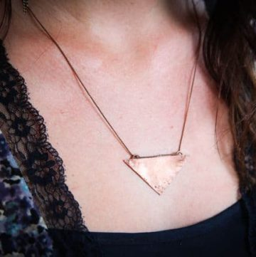 DIY Copper Triangle Necklace