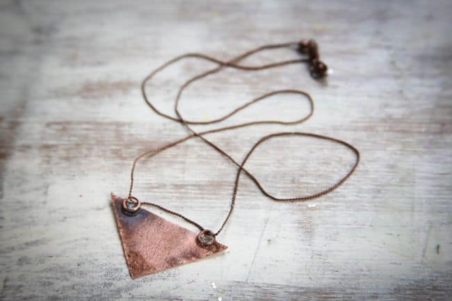 DIY Triangle Necklace with Copper