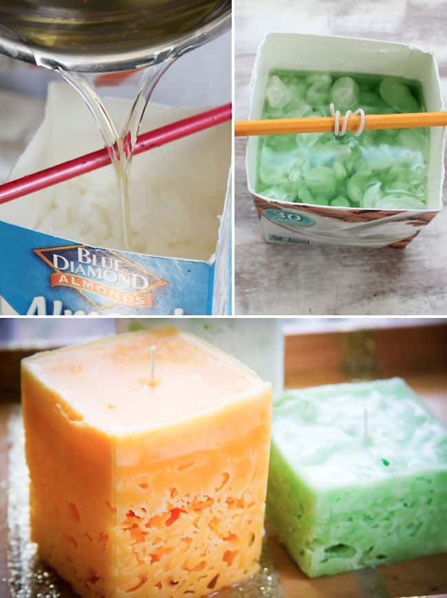 How to recycle candles into ice candles