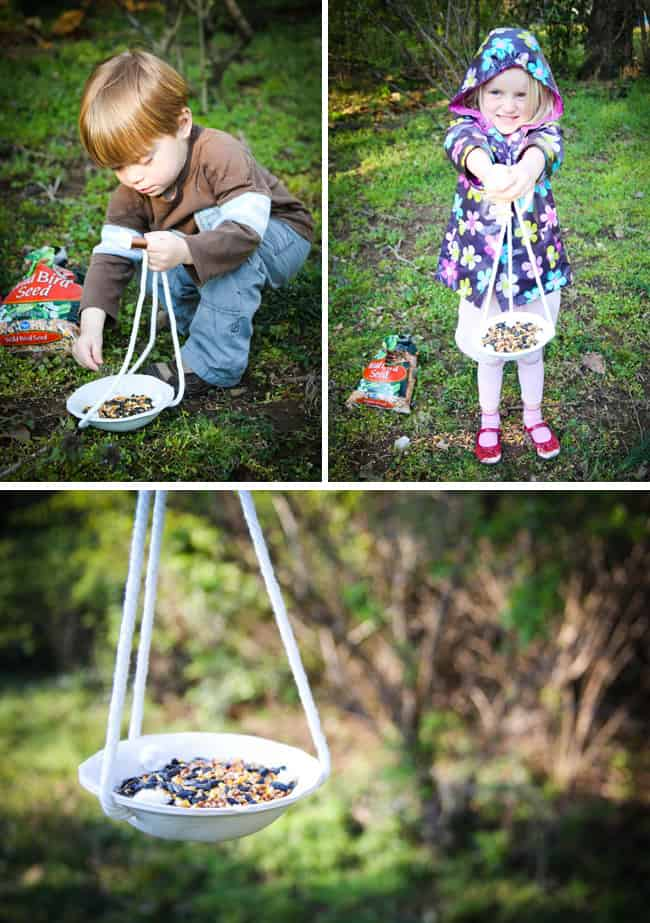DIY Birdfeeder with clay