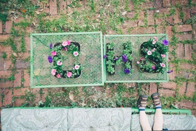 DIY Letter Planters