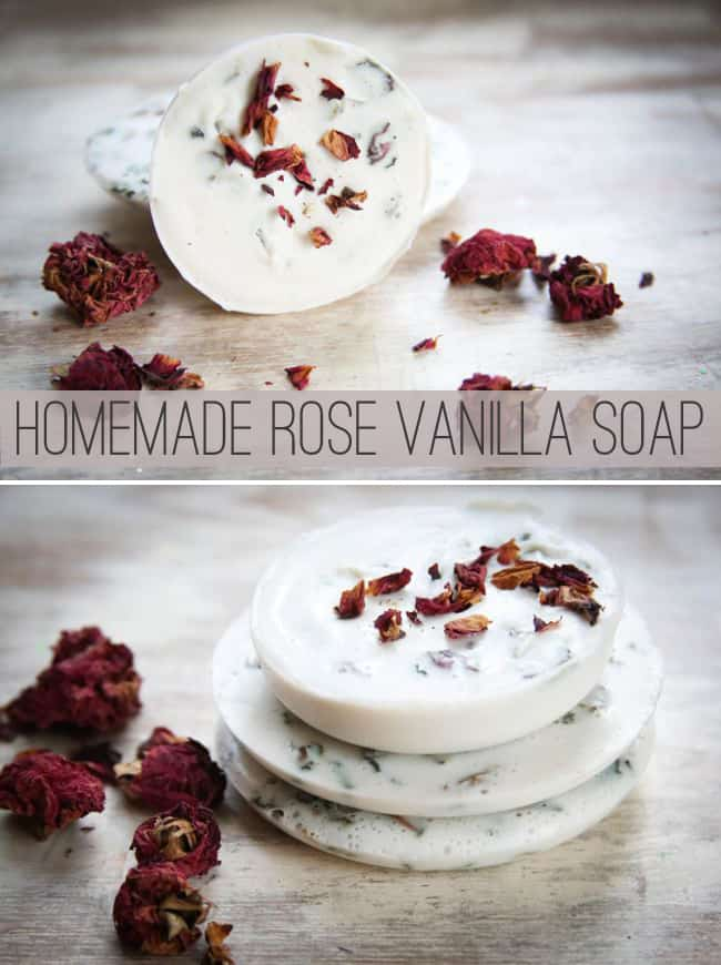 Homemade Soap with Roses and Vanilla | HelloGlow.co