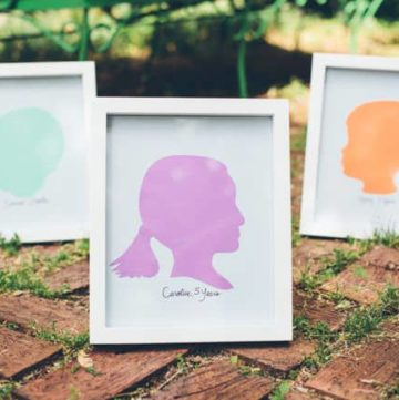 DIY Silhouettes for Mother's Day
