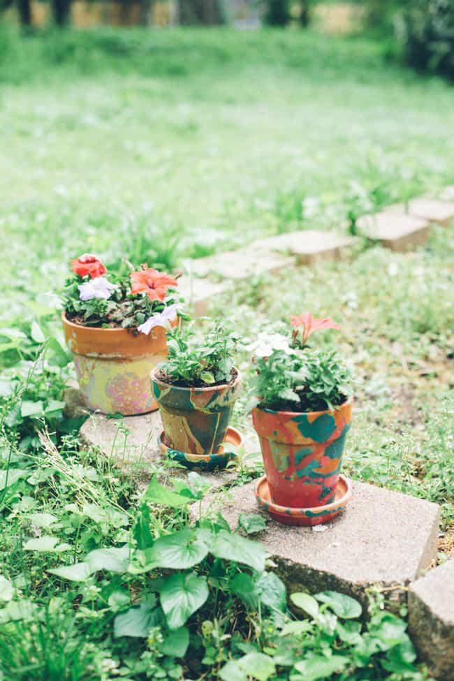 Diy Planters With Nail Polish