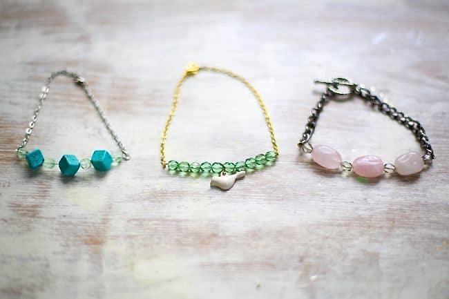 DIY Delicate Bead Bracelets | Hello Glow