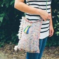 Crossbody DIY tote from a placemat