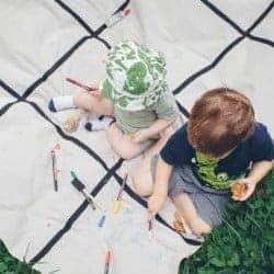 DIY Summer memory picnic blanket