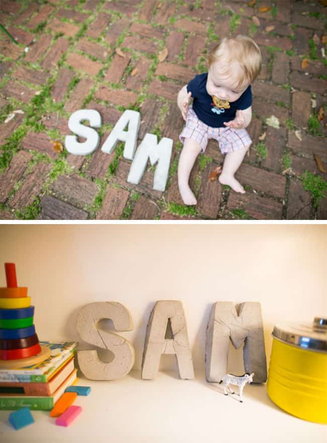 Cement Letters DIY | Hello Glow