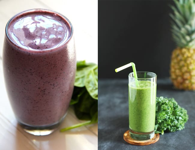 Blueberry Fruit Smoothie Blueberry Spinach Smoothie