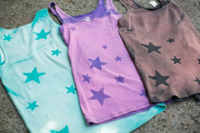 DIY Bleach Star Tank Tops