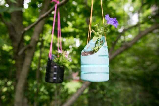 Recycled Hanging Planters