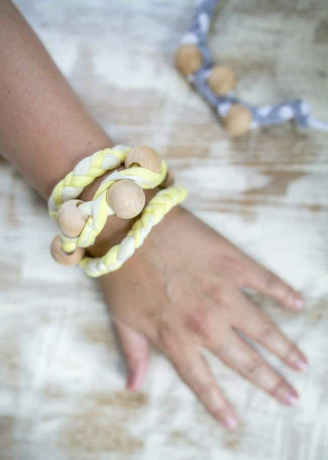 DIY Wrap T-shirt Bracelet | Hello Glow