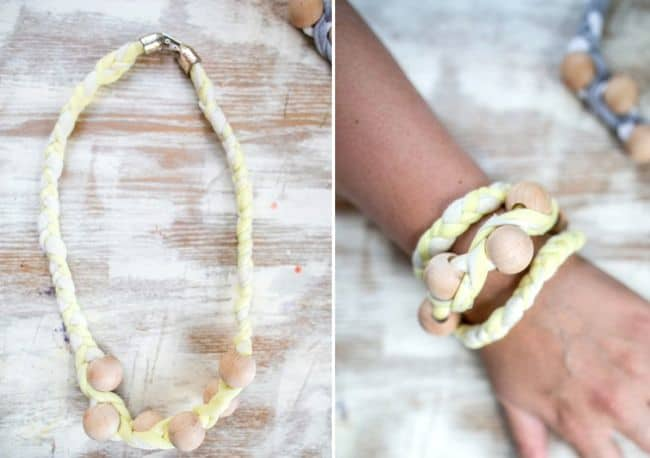 DIY Wrap Bracelet with T-Shirts | Hello Glow