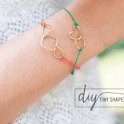 DIY Kate Spade tiny shapes bracelets