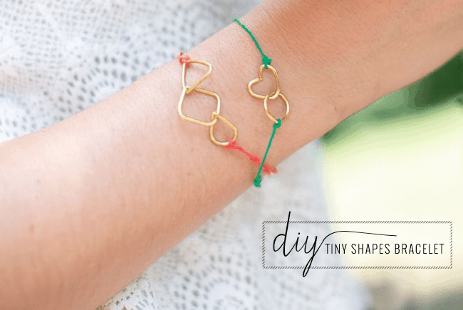 DIY Tiny Shapes Bracelets | Hello Glow