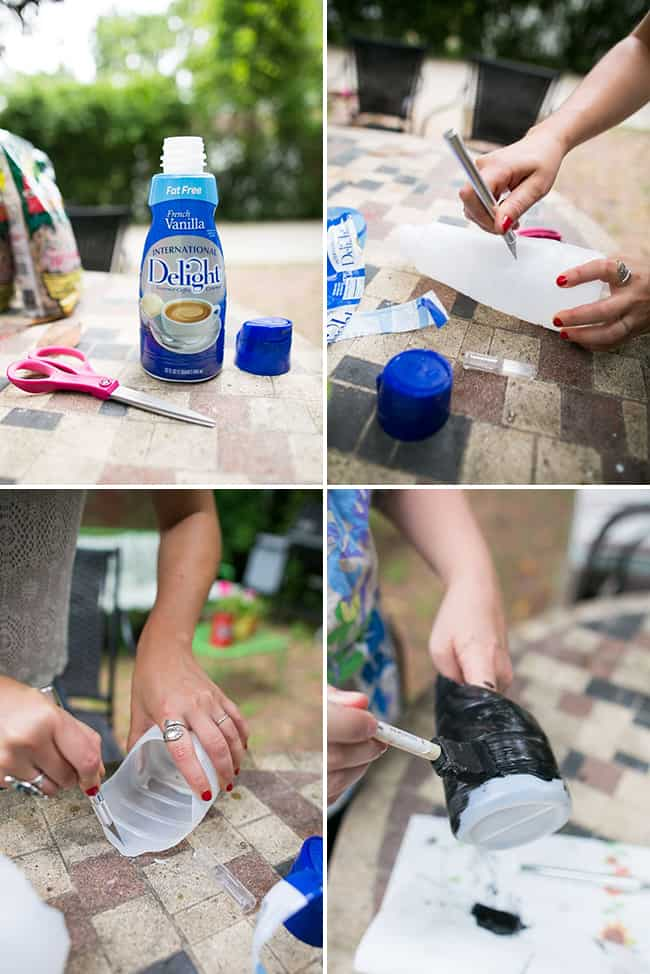 DIY Planters from plastic bottles