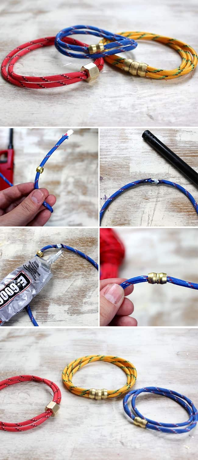DIY rope bracelets for dad