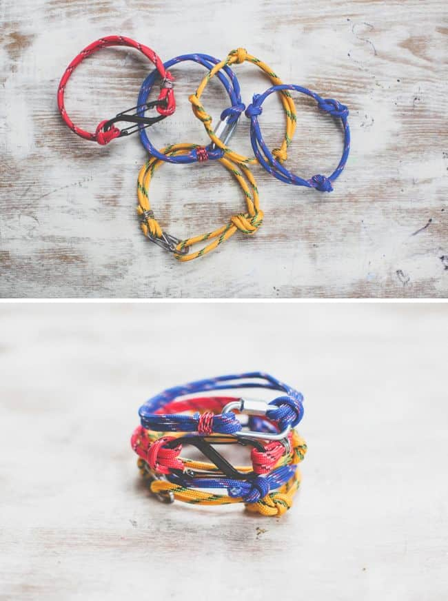 3 LAST MINUTE ROPE BRACELETS FOR DAD