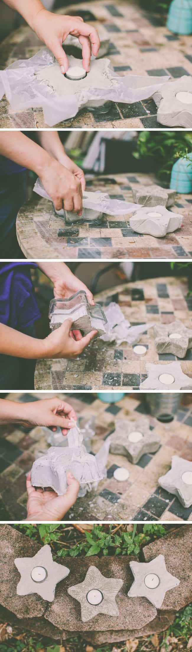 How to make votives with cement | Henry Happened