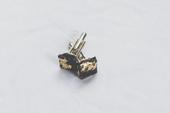 DIY Cufflinks with Gold Leaf | Hello Glow