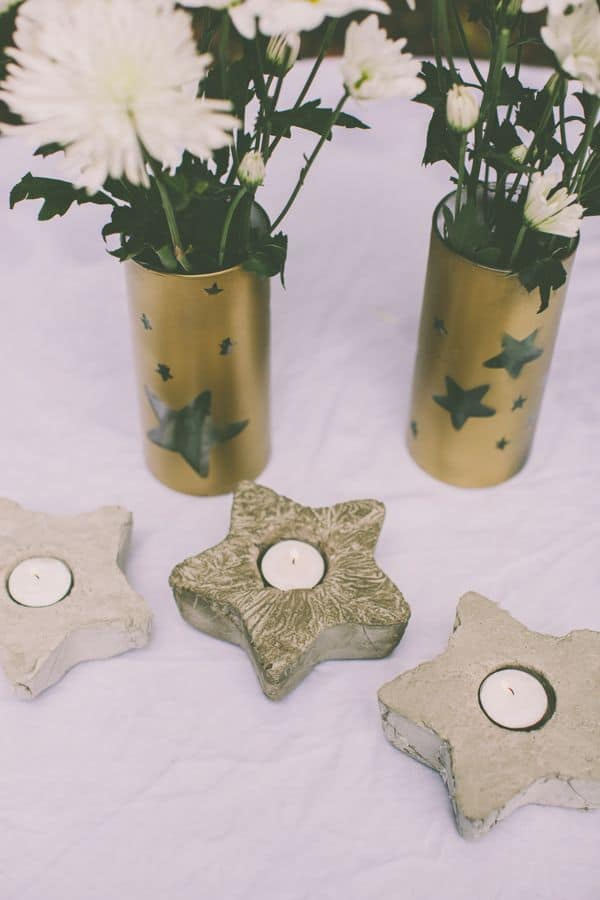 DIY Cement Votives | HelloGlow.co