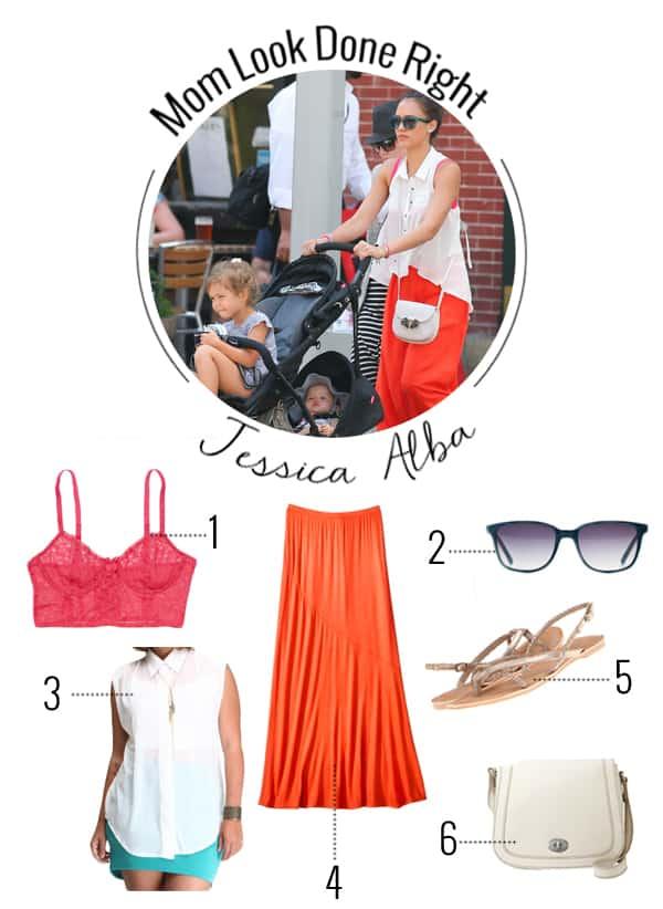 Jessica Alba's Mom Style