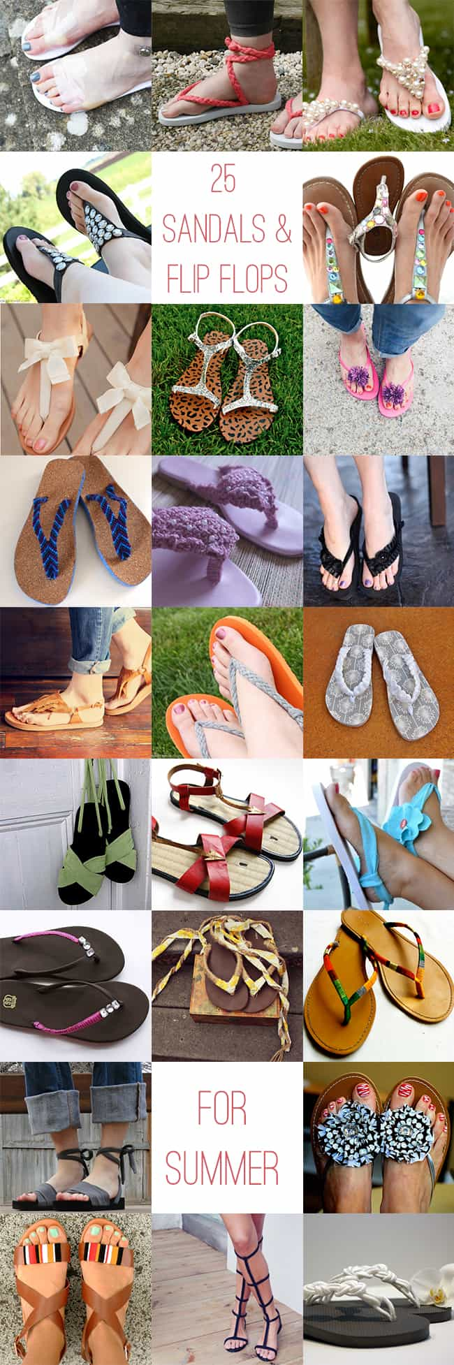 25 chic DIY summer sandals + flip flops