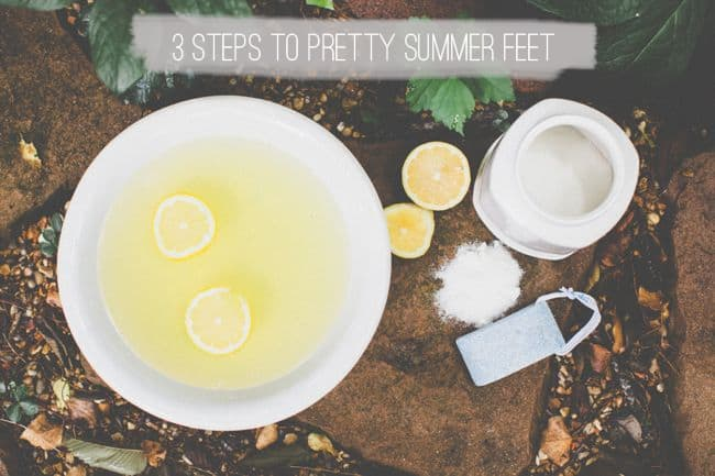 3 Steps to Pretty Summer Feet