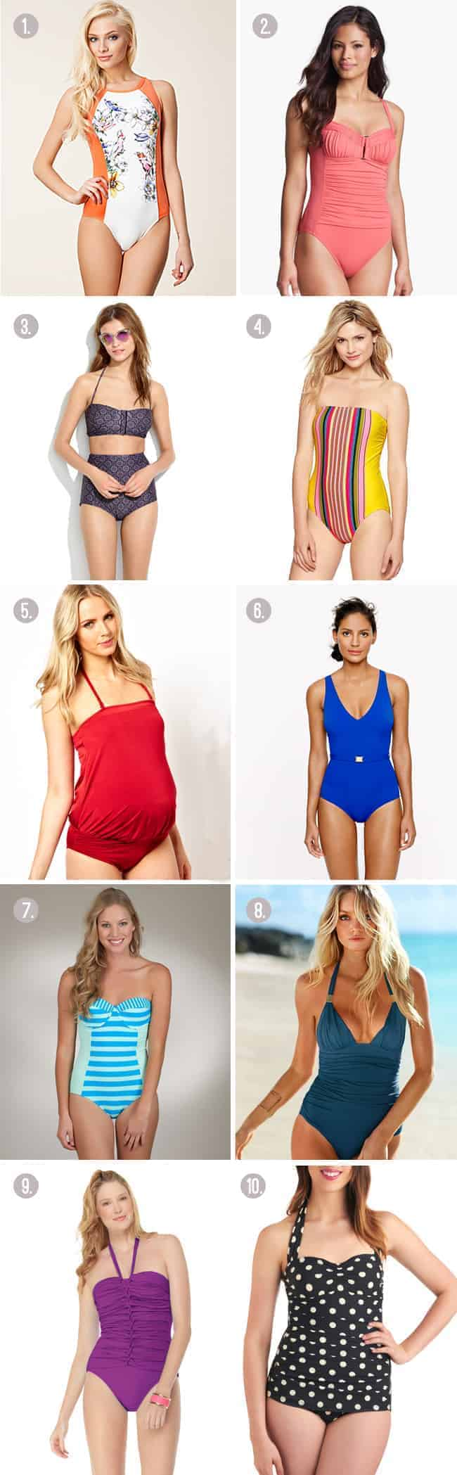 10 mom friendly swimsuits | Hello Glow