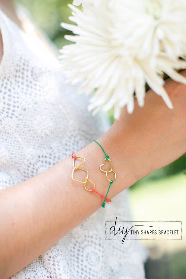 DIY String Bracelets with Tiny Shapes | Hello Glow