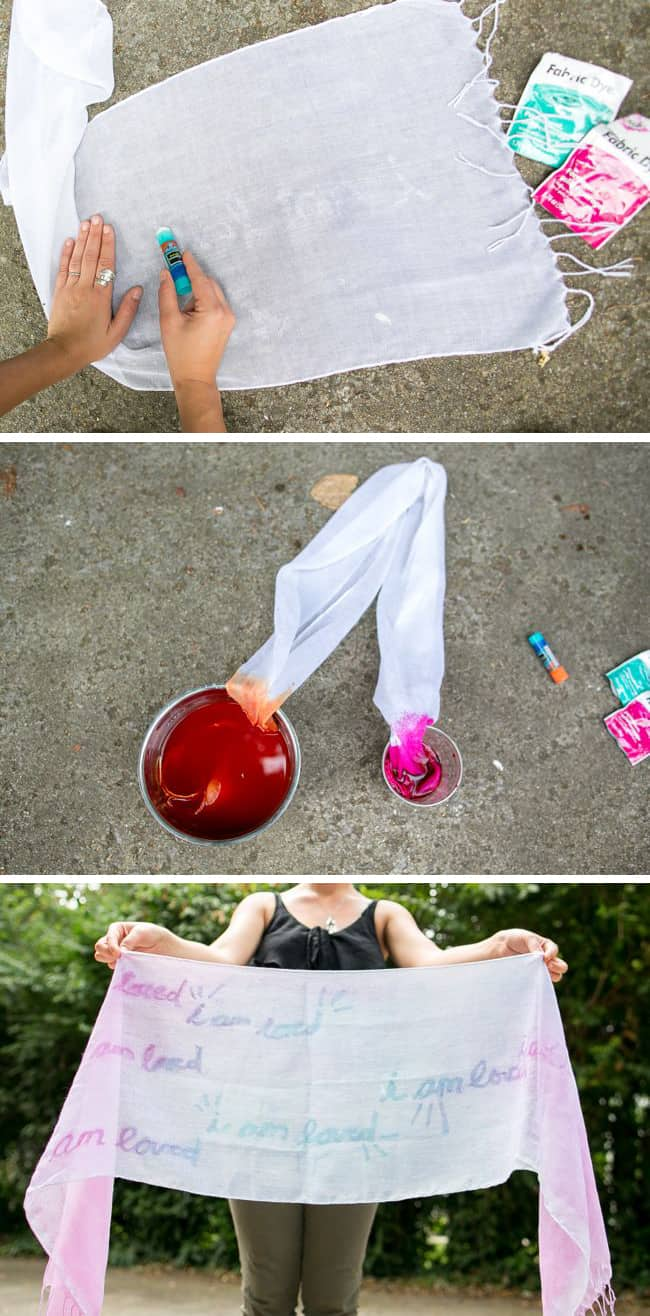 How to resist dye with glue   Hello Glow