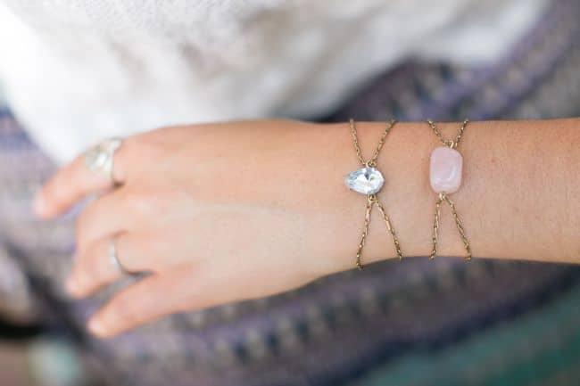 DIY Rhinestone Bracelets | Hello Glow