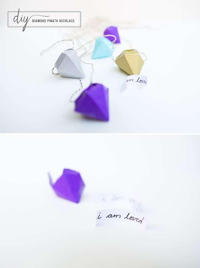 DIY Diamond Pinata Necklace | Hello Glow