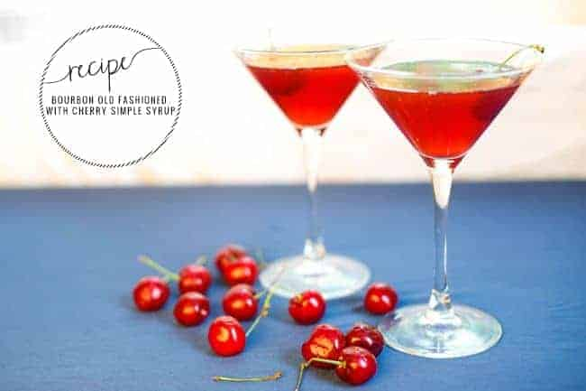 Cherry Bourbon Old Fashioned | Hello Glow