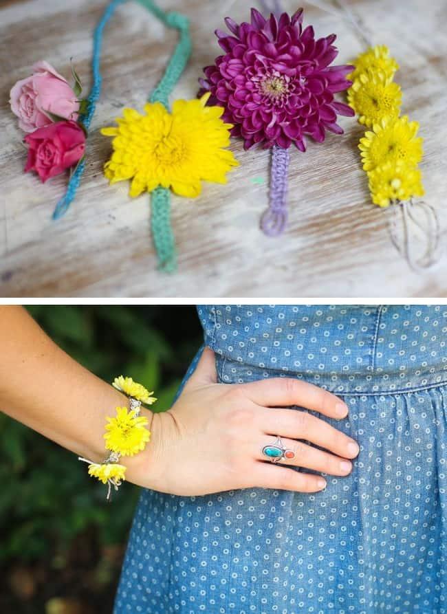 Brilliant Fresh Flower Bun Wrap And Bracelet Diy Hello Glow Hairstyle Inspiration Daily Dogsangcom